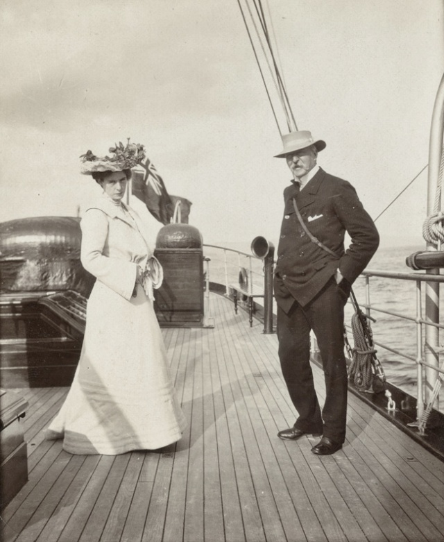 Marie and George on Honeymoon aboard SY Saevuna, 1903 Martin Black