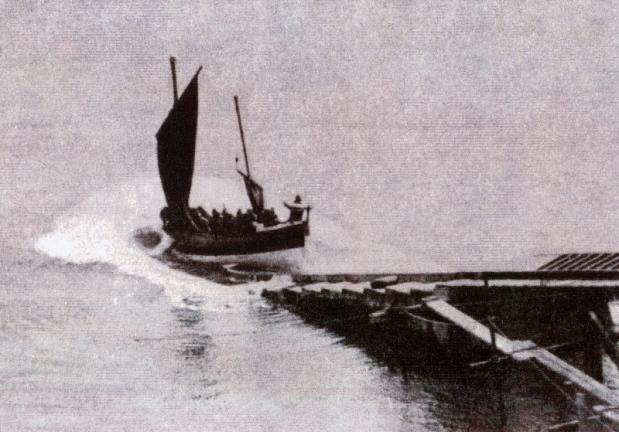 CHA launching under sail2