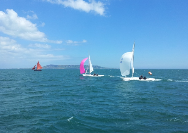 Will the Dragons Phantom and Jaguar catch the Galway Hooker Naomh Crónán RAYC Baily Bowl 26 May 2013 © Iain McAllister
