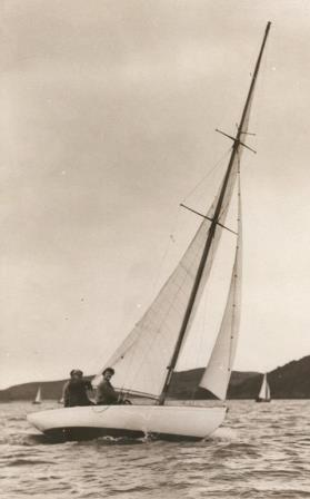St Patrick sailing at Kippford 1950s Iain McAllister collection