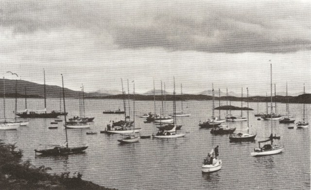 The 1968 Tobermory Race fleet at Crinan. George Gibb, CCC Journal, 1969