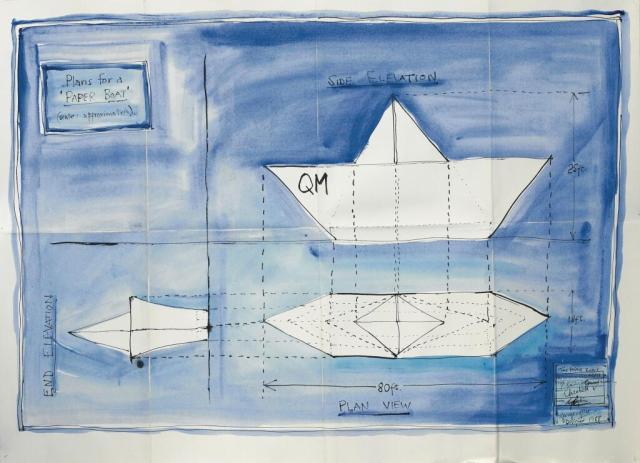 George Wylie Paper Boat 6art