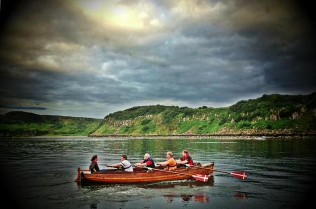 Wednesday night practise in the Row St Kilda to Skye training boat. (Row St Kilda to Skye)