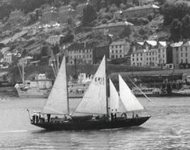 English Rose II, start of the 1956 Tall Ships Race. (Pathe)