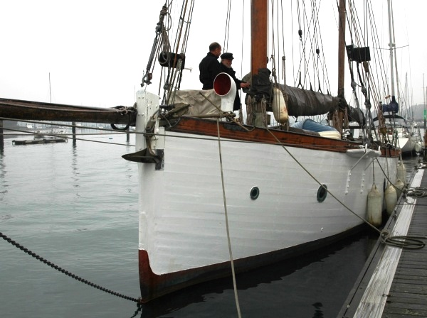 Nell, a yacht that exudes character that can hopefully be retained thgrough restoration. (Guy Ribadeau Dumas)