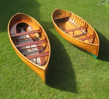 Exquisite round stern punts on display at The Fife  Regatta 2013. (The Fife Regatta)