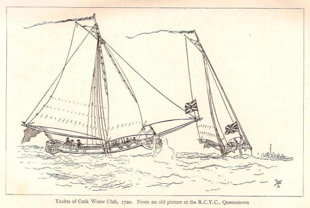 Yachts of the Water Club of Cork, 1720. (Badminton Library)