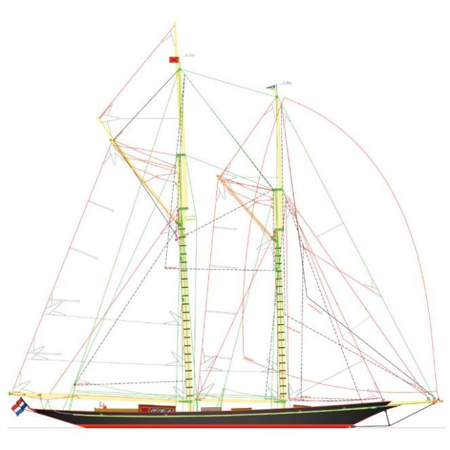 Rainbow II sail plan (SuperYacht Times)